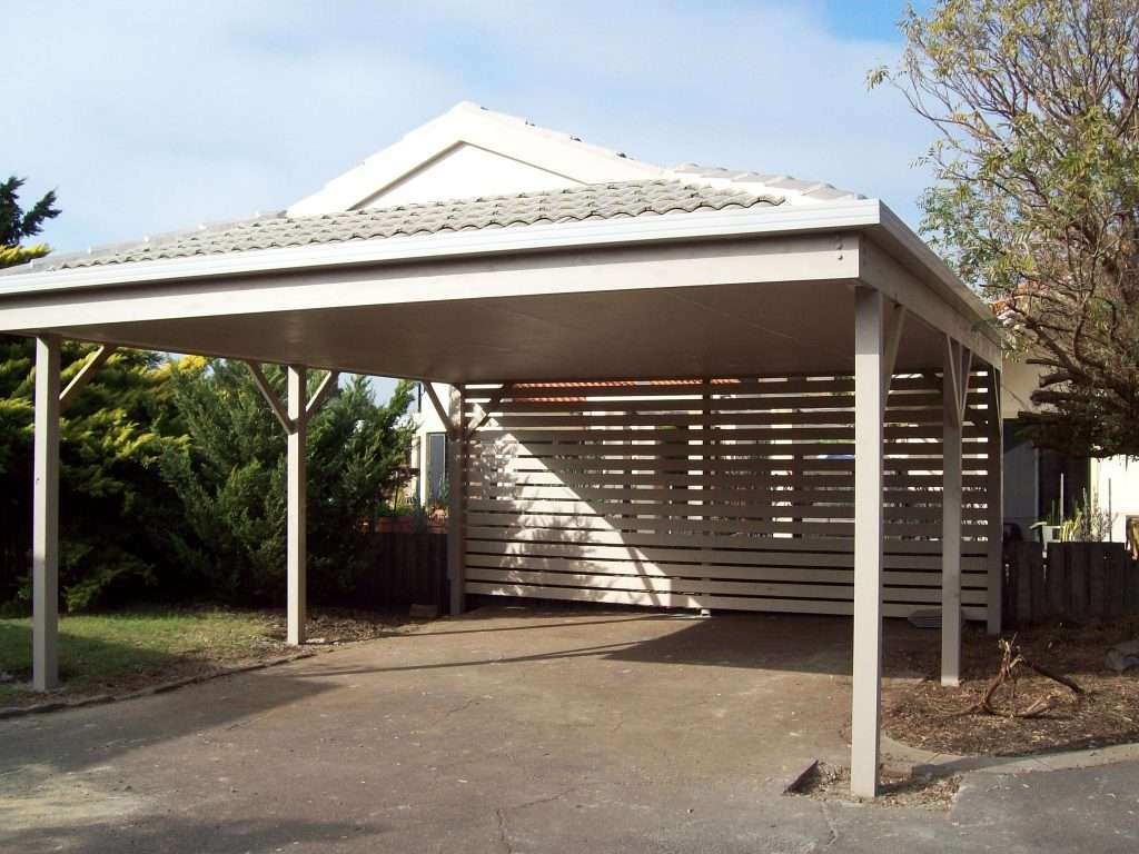 Dutch Gable Timber Carport with Tiled Roof