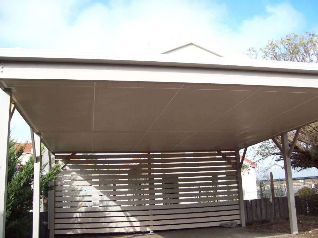 Dutch Gable Timber Carport with Tiled Roof and Cement Sheet Ceiling