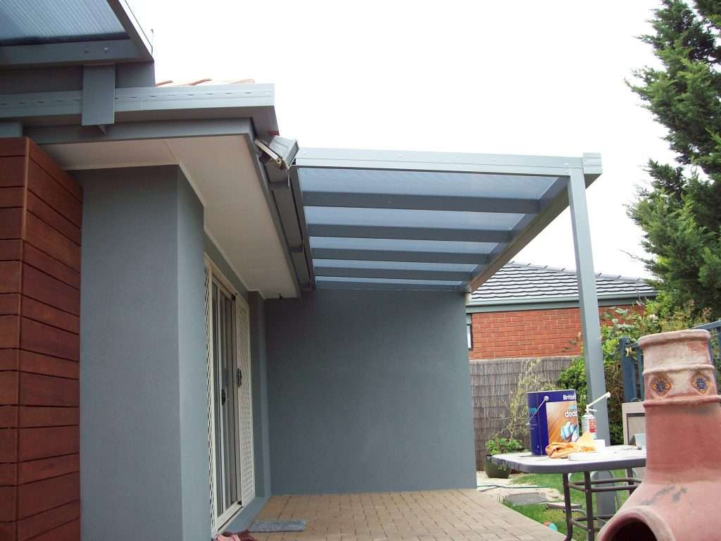 Flat Roof (Skillion) Alumunium Spanbar Veranda with Sunpal Multi Roofing (2)