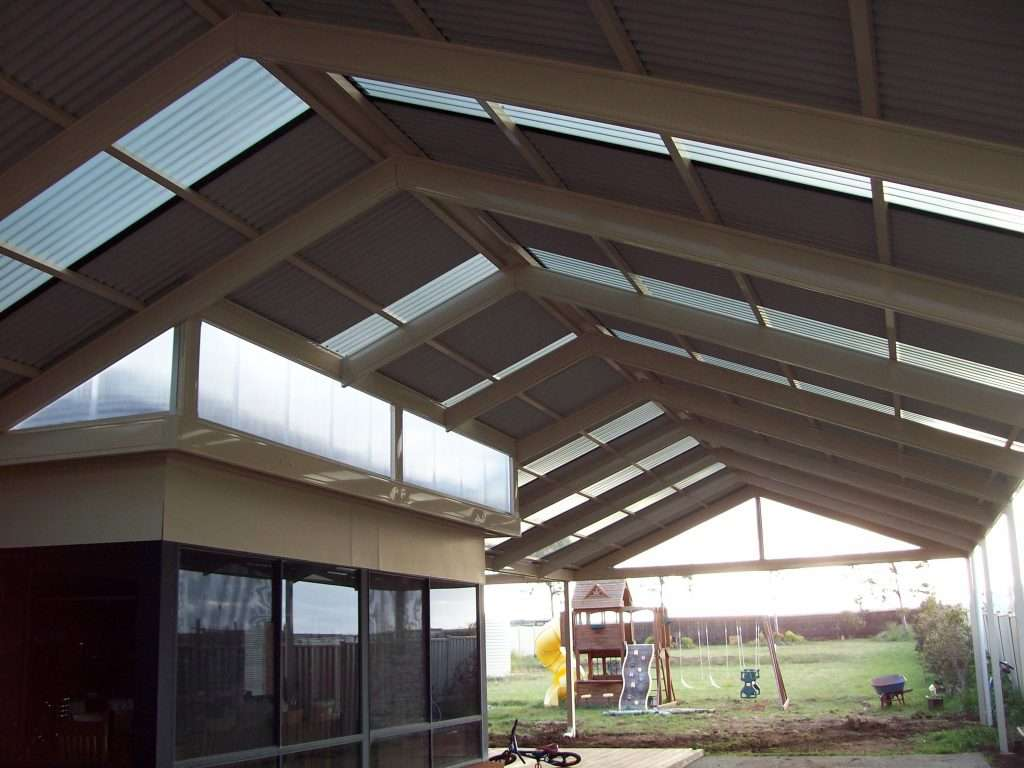 Gable Colorbond Steel Veranda with Twinwall Polycarbonate Infill